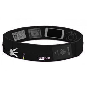 FlipBelt Zipper Black